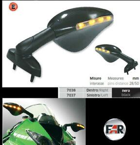 Pair-of-Mirrors-Indicators-Led-to-7037-7038-Yamaha-Bike-YZF-R125-R1-R6-FZR-Fazer