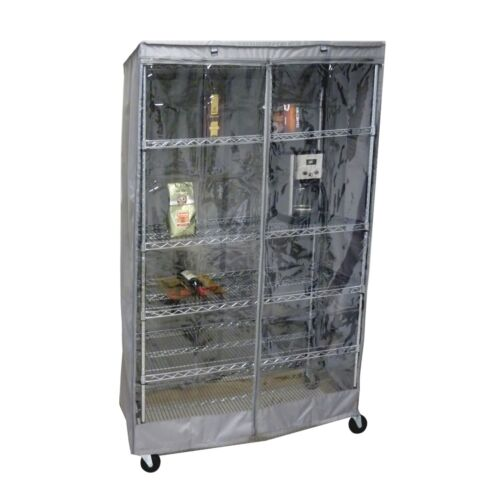 """48/""""Wx24/""""Dx72/""""H, COVER for Wire Shelving Storage Rack UnitSize Clear//Grey"""