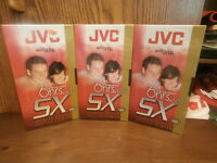 Three Sealed Jvc T-120du 6 Hour Premium Quality Video Cassette Tapes