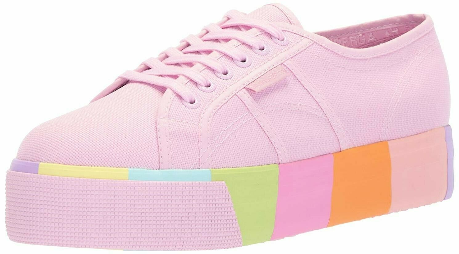Superga Platform Pink Rainbow 2790 Woman Sneaker SIZE USAW- 8 ,EU- 39