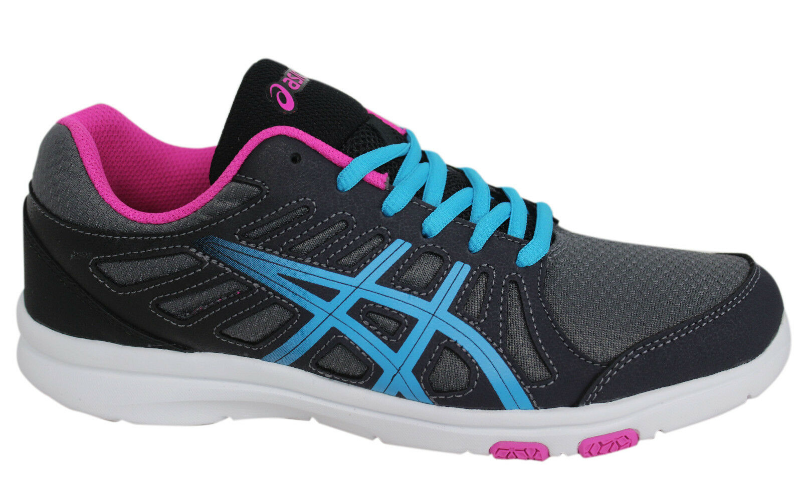 Asics AYAMi Shine Lace Up Black Grey Synthetic Womens Trainers S394Q 9743 D17 Seasonal clearance sale