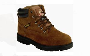 Mens Boots - BRAHMA - leather - STEEL TOE - waterproof - size 12