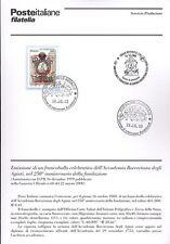 ITALIA 2000 ACCADEMIA ROVERETANA AGIATI BOLLETTINO COMPLETO DI FRANCOBOLLI FDC
