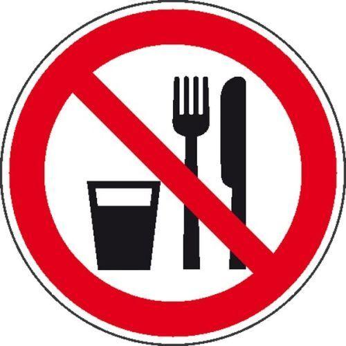 Schild Essen und Trinken verboten Folie 20cm 21.0992