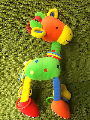 "Capable Jellycat Jelly Kitten 14"" Hoopy Loopy Giraffe Sensory Activity Cot Pram Toy Vgc Buy One Give One Baby"