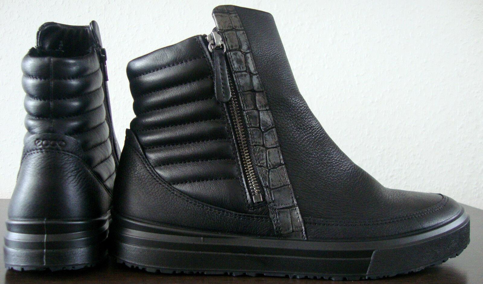 Zapatos casuales salvajes Ecco Boots señores Chukka brevemente caña botas botines zapatos Black talla 42 nuevo