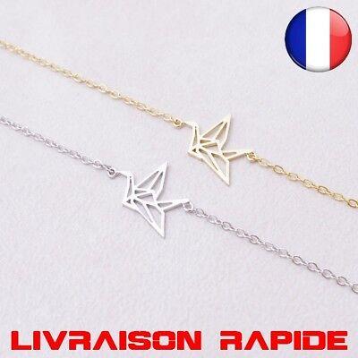 Bracelet Chaîne Origami Colibri Femmes Mode Animal Vol D/'oiseau Bijoux Cadeau