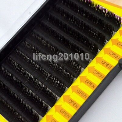 High Quality thick mink individual black false eyelashes extension tray eye lash