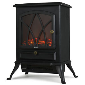 1500W Electric Fireplace Heater Stove Tempered Glass