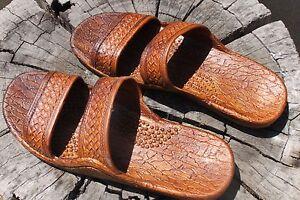 New Brown Rubber Hawaiian Hawaii Jesus Sandals Unisex Classics Pali Slippers