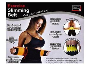 aaa63465cc Sauna Hot Exercise Waist Slimming Work Out Belt Fat Burner Body ...