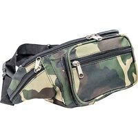 Outdoor Camo Water-resistant Fanny Pack, Mens Waist Travel Pouch Hip Belt Bag
