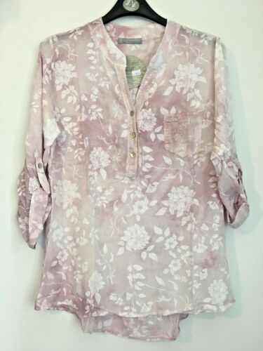 BNWT LV Clothing Italian Sequin Pocket Floral Blouse 3 colours UK Size 16-18