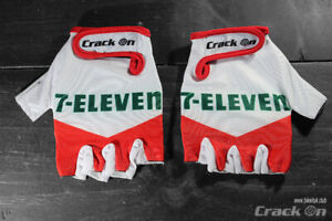 Retro 7-Eleven Road Cycling Team Half Finger Mitts Gloves