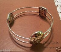 Silpada Sterling Silver, Bronze romance Novel Bangle Bracelet B2415