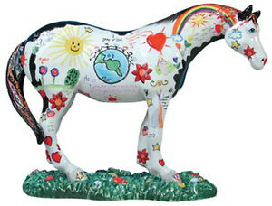 Trail-of-Painted-Ponies-CHILDREN-039-S-PRAYER-FIGURINE-1586-New-in-Box-1st-Edition