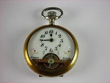 Antique 8-day 7j Swiss pocket watch with visible balance. Runs and keeps time.