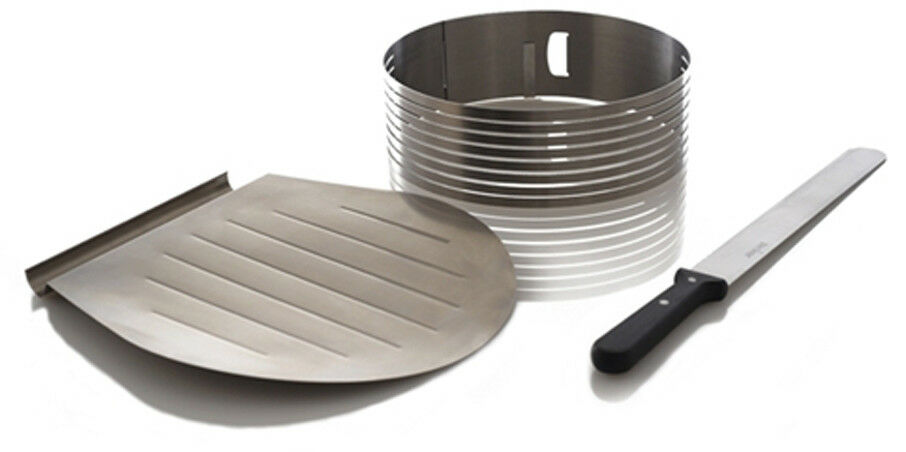 Frieling Zenker 3 Piece Stainless Steel Layer Cake Slicer Slicing Kit New