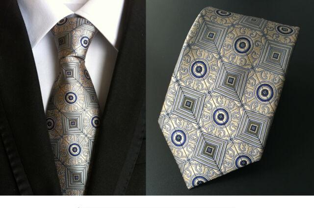 Robert Talbott men/'s Ivory  Geometric tie $155