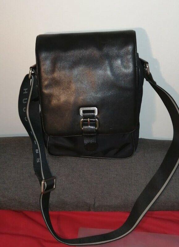 Hugo Boss Calfskin Leather Shoulder Bag