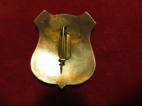 Police Lawman Badge: Engraved SHERIFF shield Old West