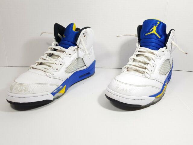 size 40 dc087 71004 Nike Air Jordan 5 V Retro Laney White Royal Maize 136027 189 Sz 10.5