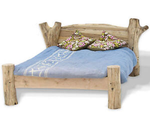 Beech Driftwood Bed Stunning Solid Wood Bed Frame In King Queen