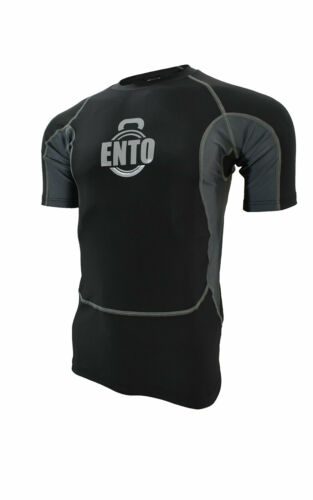 Ento Compression Armour Base Layer Top Half Sleeve Thermal Gym Sports Shirt