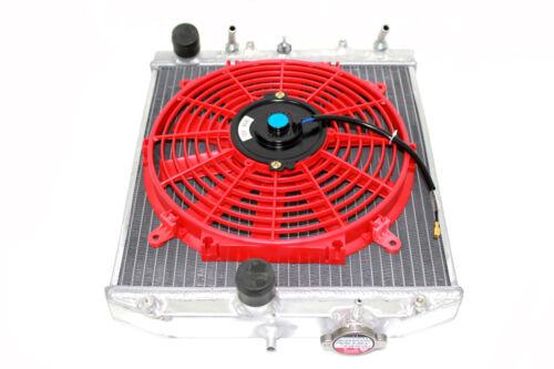 92-95 Honda Civic EG EJ EH 2//3//4 Aluminum Radiator Automatic Red Fan SOHC DOHC