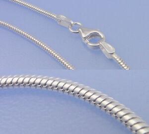 Echt-925-Silber-Schlangenkette-1-5-mm-Breite-80-cm-Laenge-Kette-Hochglanz