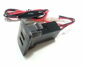 2fach-Einbau-Steckdose-USB-Ladegeraet-USB-Charger-Auto-PKW-passend-fuer