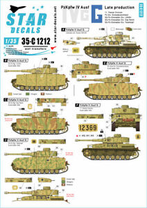 Star Decals 1/35 Pz.kpfw.iv Ausf.g - Late Producción #35-C1212