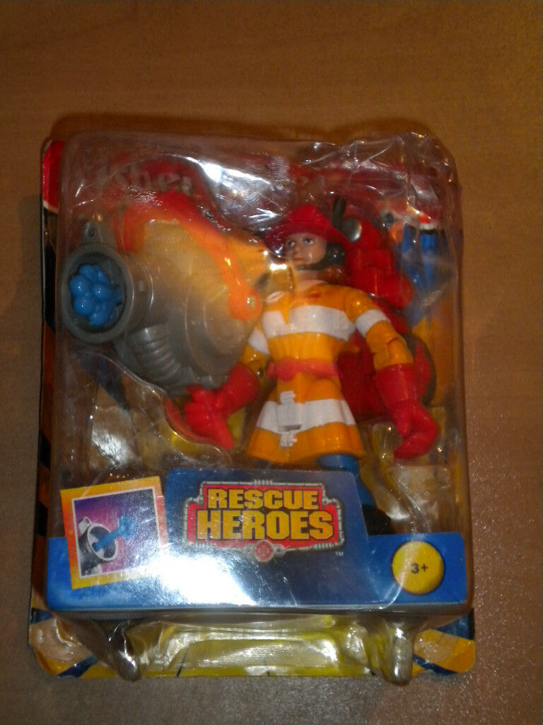 1997 VINTAGE FISHER PRICE RESCUE RESCUE RESCUE HEROES FIREWOMAN WENDY WATERS MIB 49f589