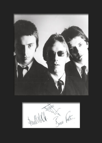 FREE DELIVERY THE JAM #1 Signed Photo Print A5 Mounted Photo Print