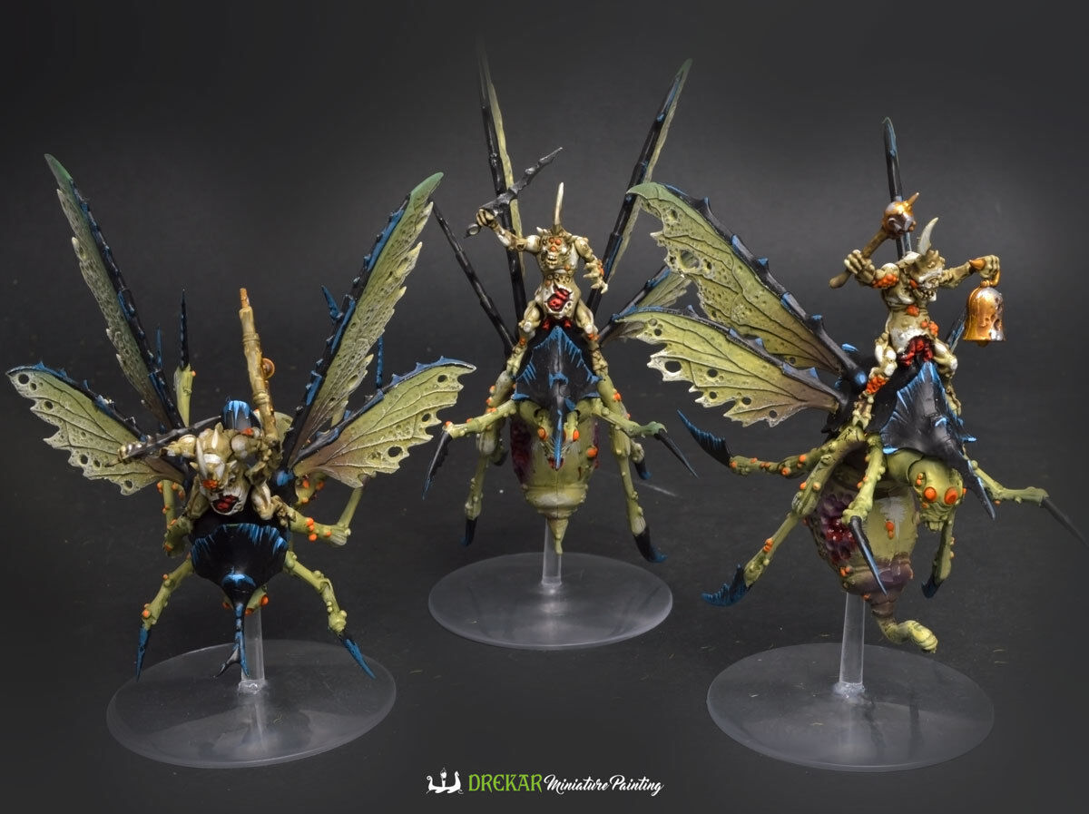 Plague Drones of Nurgle - Maggotkin  COMMISSION  painting daemons warhammer