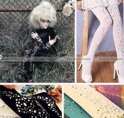 Women Lady Thicken Rhinestone Pantyhose Socks Stockings Harajuku Cute Lolita S1