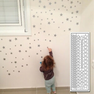 Delightful Image Is Loading 110Pcs Stars Wall Stickers Kids Room PVC Decal