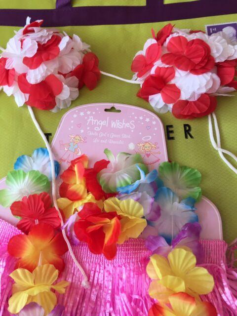 Hawaiian Hula Flower Neck Garland Leis Luau Aloha Beach Party Fancy Dress summer