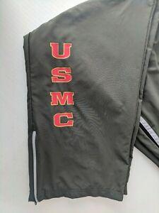 U-S-Marine-Corps-USMC-Lined-Athletic-Pants-New-Balance-Size-Large-Long-32x34