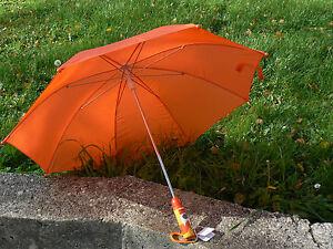 NUOVO-Sevi-82482-ombrello-bambini-arancione-manico-legno-disegno-cane