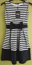 Misslook Monochrome Sleeveless Striped Dress with Bow Size 10 BNWT* Miss Look