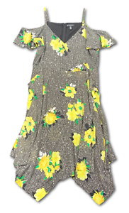 New-129-50-Value-INC-Interntional-Concept-18W-Black-Floral-Halter-Top-Dress