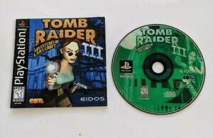 Playstation Tomb Raider Iii Missing Back Cover Art Ps1 Ebay