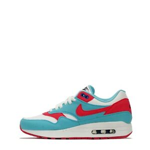 Details about Nike ID Air Max 1 Women's Low Top Casual Trainers Shoes in WhiteGreen