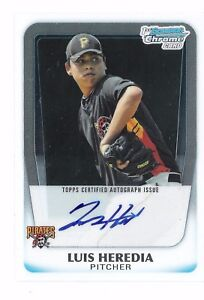 Luis-Heredia-2011-Bowman-Chrome-Prospects-Autograph-RC-Auto-Signature-Pirates