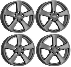 4-Dezent-TX-graphite-wheels-6-5Jx16-5x112-for-SEAT-Altea-Ateca-Leon-Toledo-16-In