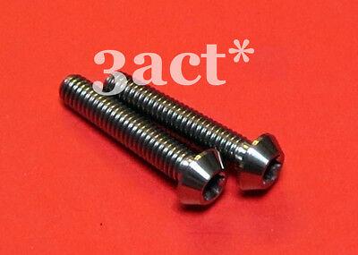 Ti Bolt 5 Titanium 10 pcs Gold M8 x 45mm 1.25 Pitch Din 912 Taper Head Gr