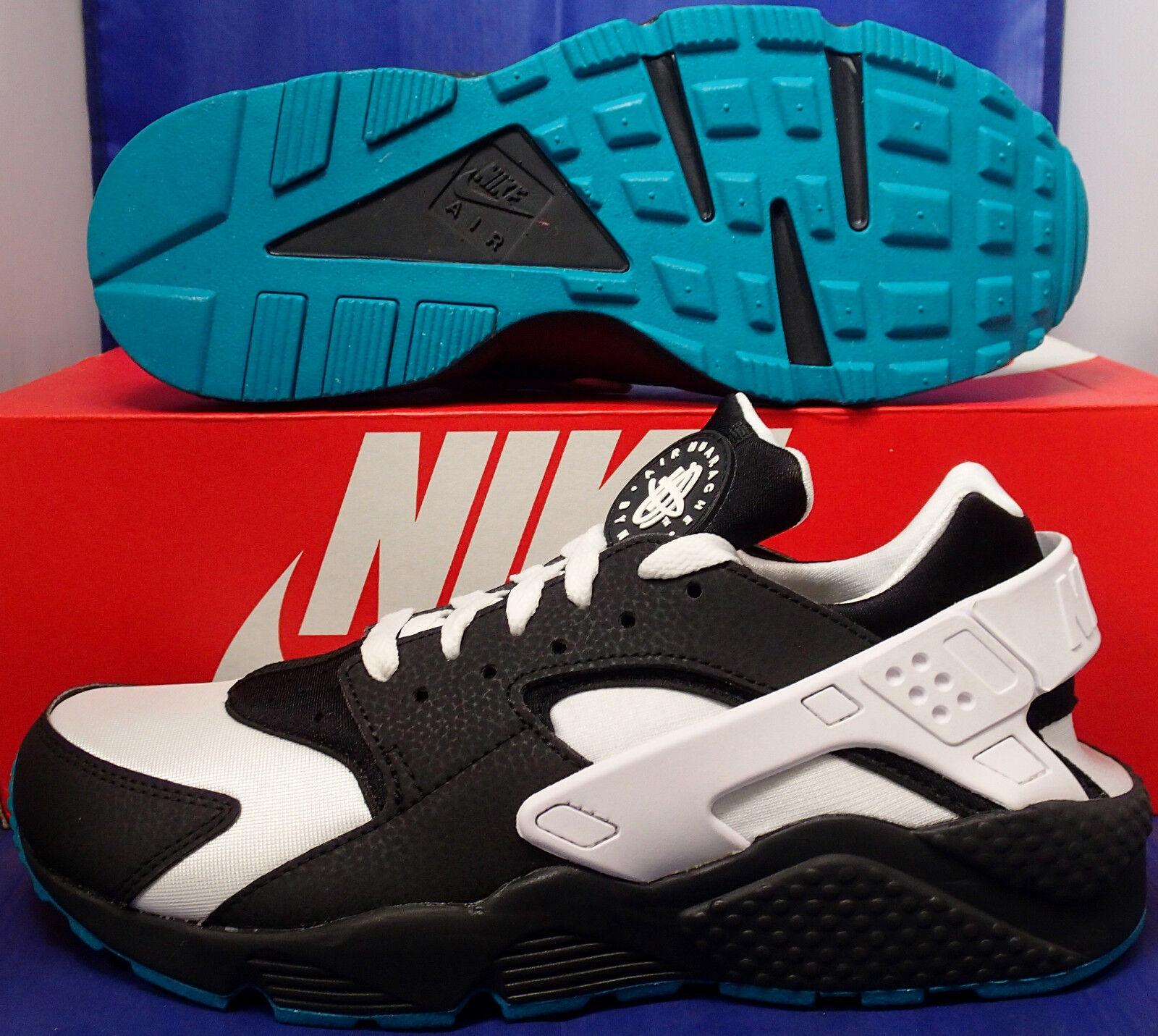 Nike SZ Air Huarache courir iD noir blanc Turquoise Bleu SZ Nike 8 ( 777330-999 ) c439cd