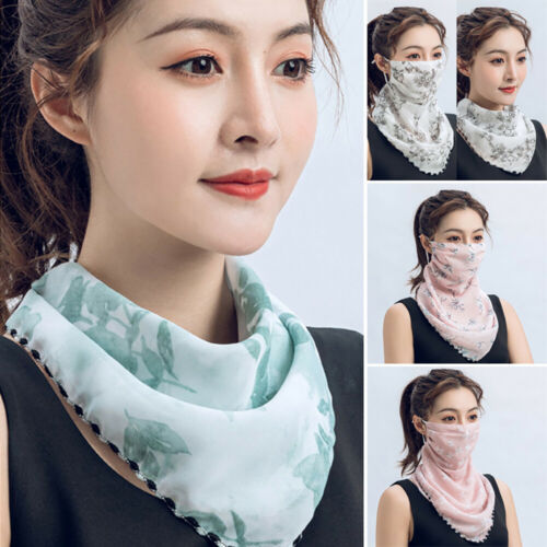 Soft Face Scarf Reusable Hanging Ear Scarf Windproof Chiffon Anti Dust Casual