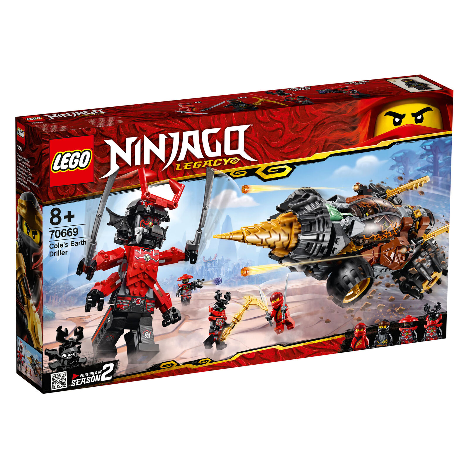 70669 Lego Ninjago Cole's Earth Driller 587 pieces 8 ans nouvelle version pour 2019